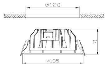 spot led encastrable 10w plafond. Black Bedroom Furniture Sets. Home Design Ideas