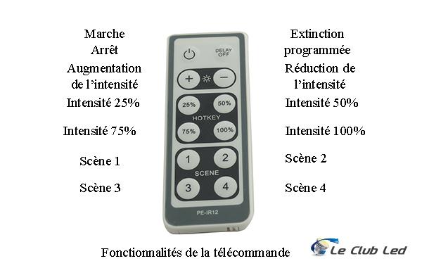 Télécommande pour variateur LED