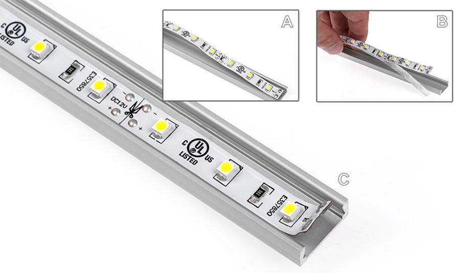 Comment installer un profil aluminium led - Comment installer ruban led plafond ...