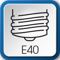 Culot E40 - Vis de 40mm